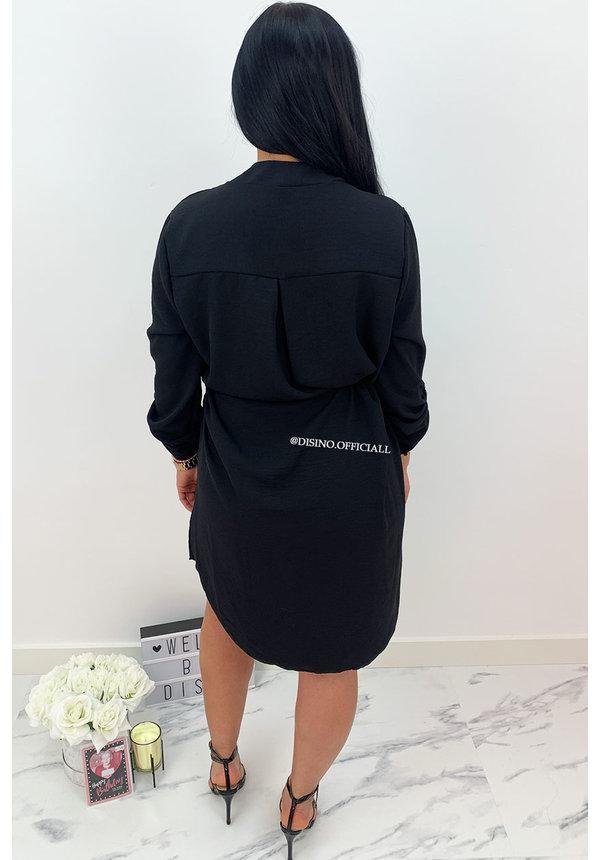 BLACK - 'MEREL' - COMFY DRESS