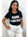 BLACK - 'KARL FOREVER' - BASIC TEE