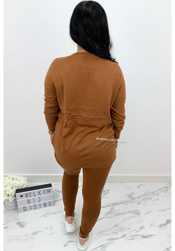 CAMEL - 'KAYLEE' - FASHIONABLE SOFT COMFY SUIT