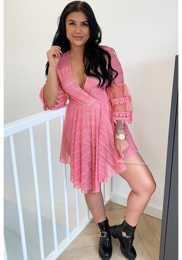 CORAL - 'AMY' - LUXE LACE COMBISHORT PLAYSUIT