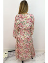 PINK - 'ESTHER' - LUXE FLORAL LONG SLEEVE MAXI DRESS