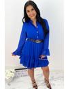 ROYAL BLUE - 'MELLS' - LAYERED RUFFLE DRESS