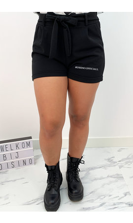 BLACK - 'LILAH' - BASIC COMFY KNOT SHORT