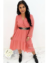 ROSE - 'CLAIRE' - LONG SLEEVE RUFFLE DRESS