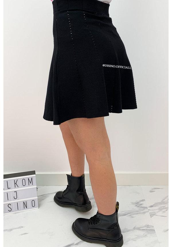 BLACK - 'LUCIA SKIRT' - A LINE SKIRT