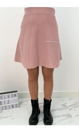 DUSTY PINK - 'LUCIA SKIRT' - A LINE SKIRT