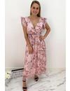 SOFT PINK - 'LIVA' - FLORAL MAXI DRESS