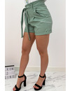 MINT GREEN - 'LEATHER LILAH' - VEGAN LEATHER COMFY SHORT
