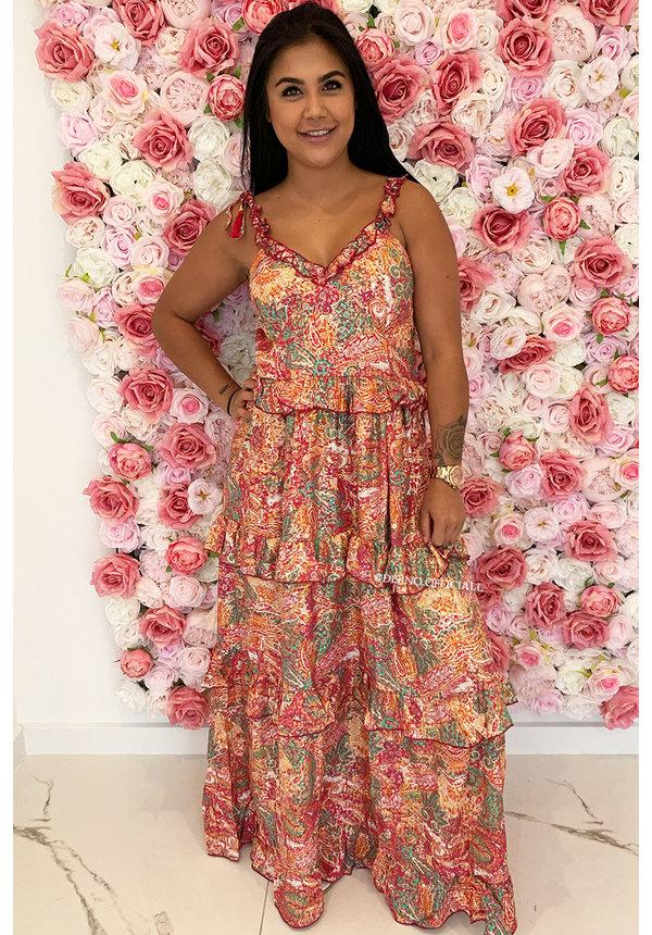 ORANGE - 'SELENA' - GYPSY MAXI DRESS