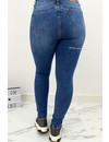 QUEEN HEARTS JEANS - BLUE - SKINNY RIPS DETAIL - 698