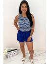 ROYAL BLUE - 'ABBY' - BOOHOO COMFY KNOT TOP