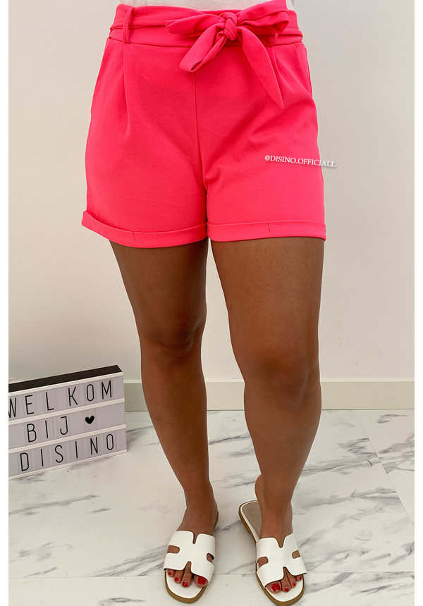 NEON PINK - 'LILAH' - BASIC COMFY KNOT SHORT