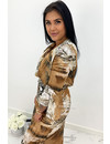 BROWN - 'FELICIA' - SNAKE PRINT MAXI DRESS
