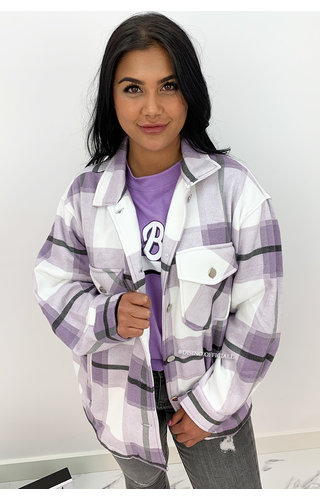 LILA - 'CHECKED SARINA' - COZY OVERSIZED BLOUSE JACK