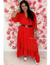 RED - 'CIAO BELLA' - SPANISH MAXI RUFFLE DRESS