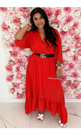 RED - 'CIAO BELLA' - SPANISH MAXI RUFFLE DRESS