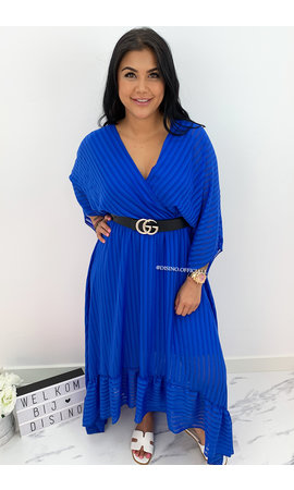 ROYAL BLUE - 'CIAO BELLA' - SPANISH MAXI RUFFLE DRESS