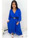 ROYAL BLUE - 'CIAO BELLA' - SPANISH MAXI RUFFLE DRESS