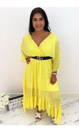 YELLOW - 'CIAO BELLA' - SPANISH MAXI RUFFLE DRESS