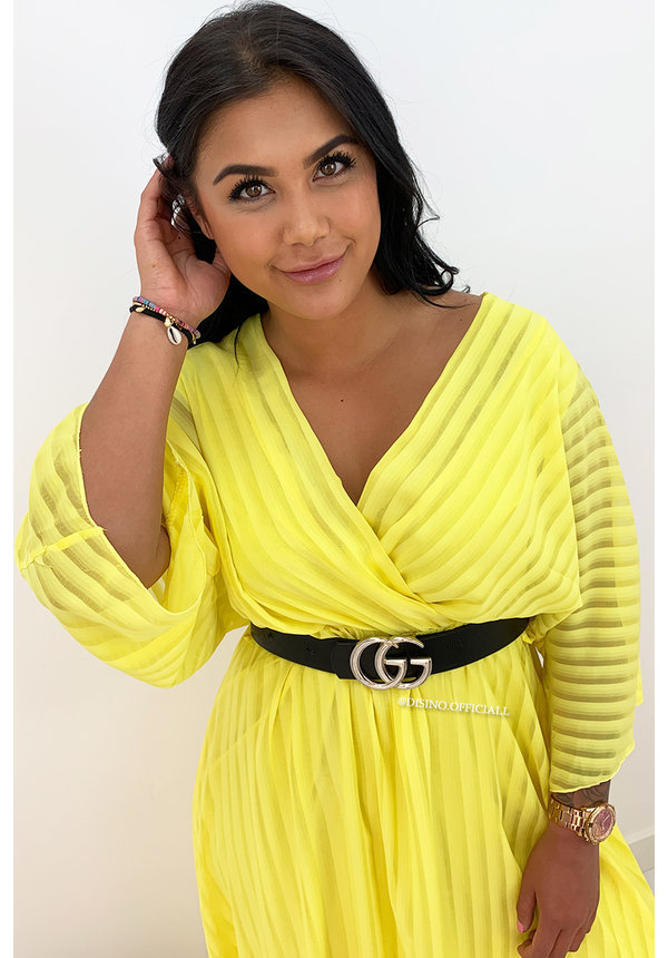 YELLOW - 'CIAO BELLA' - SPANISH MAXI RUFFLE DRESS