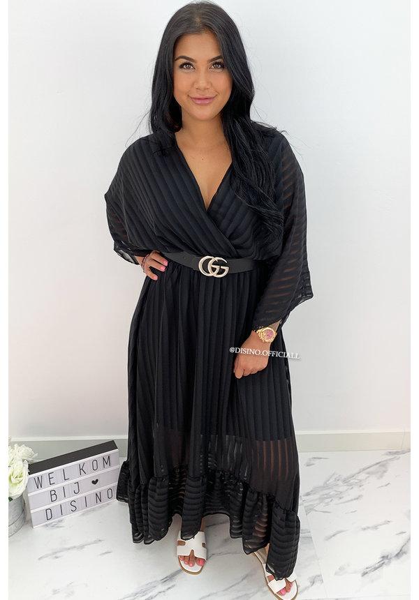 BLACK - 'CIAO BELLA' - SPANISH MAXI RUFFLE DRESS