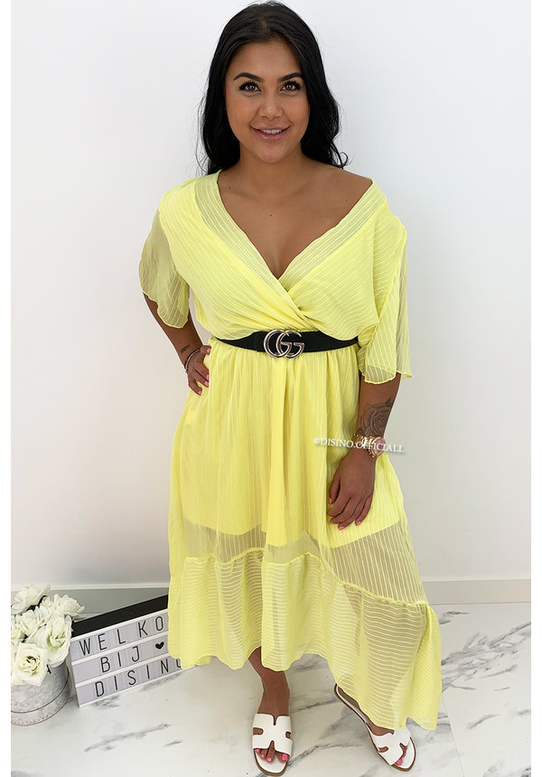 YELLOW - 'SHAYLA' - SPANISH MAXI RUFFLE DRESS