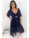 NAVY BLUE - 'SHAYLA' - SPANISH MAXI RUFFLE DRESS