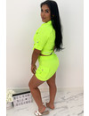 NEON YELLOW - 'SAVAGE' - CARGO TWO PIECE SET