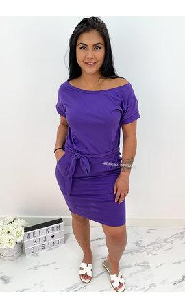 PURPLE - 'MICKEY' - COMFY KNOT DRESS