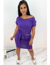 PURPLE - 'MICKEY' - COMFY KNOT DRESS