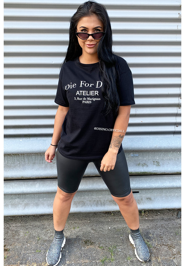 BLACK - 'DIE FOR DIOR' - PREMIUM QUALITY OVERSIZED INSPIRED TEE