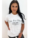 WHITE - 'DIE FOR DIOR' - PREMIUM QUALITY OVERSIZED INSPIRED TEE