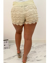 BEIGE - 'LACIE' - ALL OVER LACE SHORT