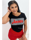 BLACK - AMOUR CHECKERED BOXED - TEE