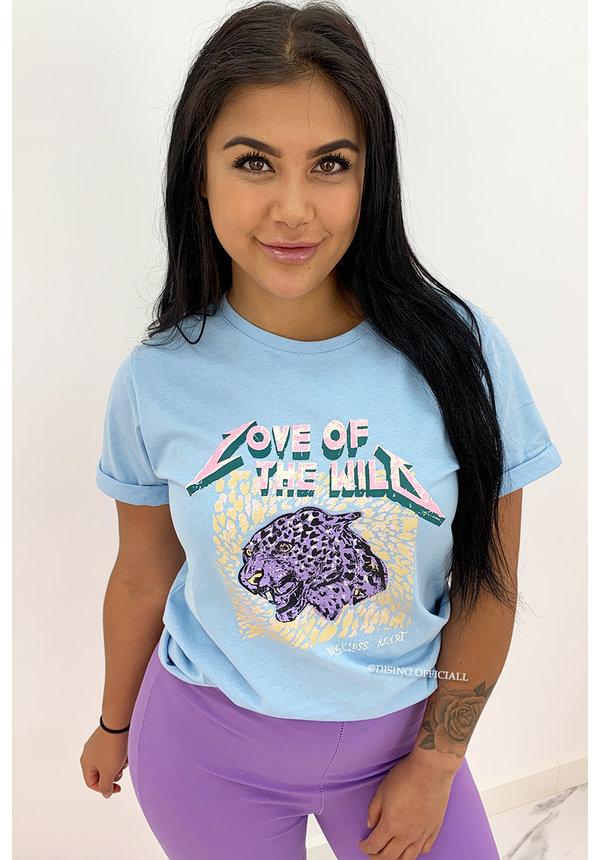 BLUE LILA - 'LOVE OF THE WILD' - AMBIKA LEO TEE