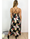 BLACK - 'FIORELLA' - FLORAL MAXI DRESS