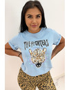LIGHT BLUE - 'FIGHTER LEO' - AMBIKA LEO TEE