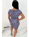 LILA - 'ROXANNE' - SOFT TOUCH LEO COMFY KNOT DRESS