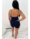 NAVY BLUE - 'DESTINY' - KNOT PLAYSUIT