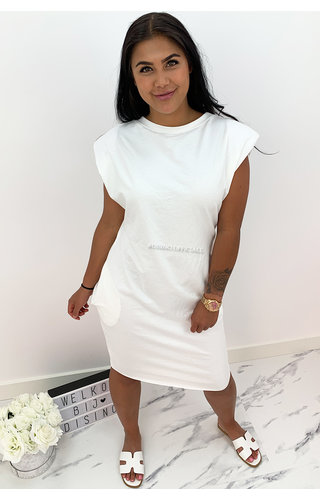 WHITE - 'JAMES DEAN DRESS' - OVERSIZED BOYFRIEND DRESS