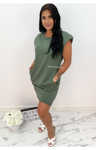 ARMY GREEN - 'JAMES DEAN DRESS' - OVERSIZED BOYFRIEND DRESS