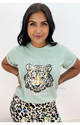 MINT - 'BRAVE' - AMBIKA LION HEAD TEE
