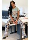 MINT - 'COLORFULL ELIN LEO' - AMBIKA SUPER SOFT COMFY FLARE PANTS