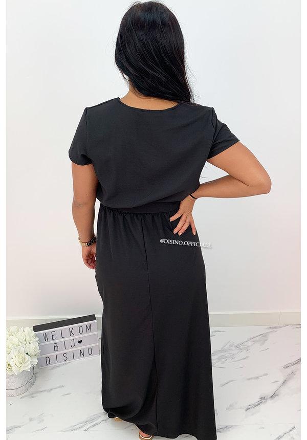 BLACK - 'BEAU' - PREMIUM QUALITY MAXI DRESS