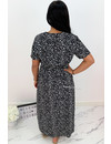 BLACK - 'VEERLE' - LEOPARD PRINT MAXI DRESS
