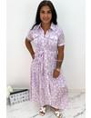 LILA - 'BECCA' - LEO LUREX BLOUSE MAXI DRESS