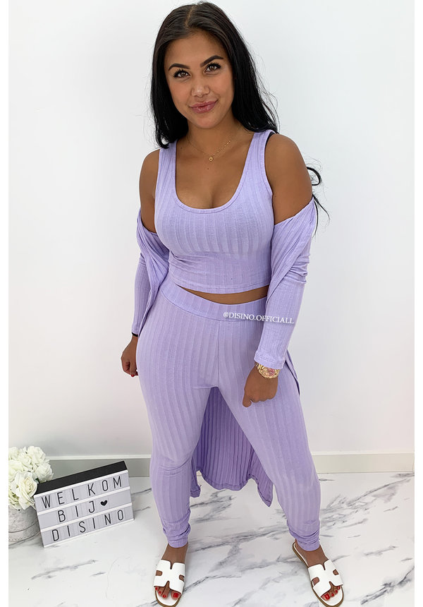 LILA - 'OMARI 3 PIECE' - RIBBED COMFY 3 PIECE SET