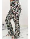 MINT - 'SOPHIA' - LEOPARD PRINT FLARED PANTS