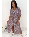 TURQUOISE - 'ELLA-JAYNE BLOUSE DRESS' - COLORFULL LEO PRINT MAXI BLOUSE DRESS