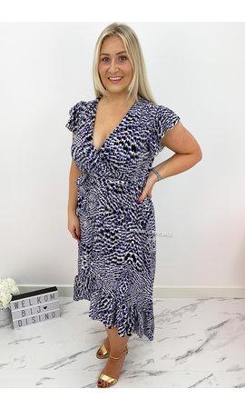 PURPLE - 'KAYLEE' - CHEETAH PRINT MAXI RUFFLE DRESS